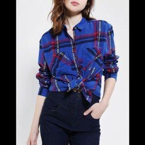 Urban outfitters BDG Blue Plaid Button Down Shirt